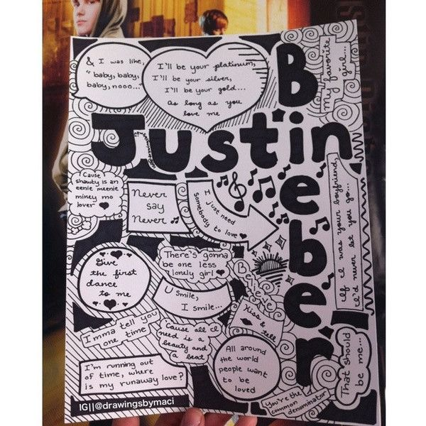 Justin Bieber Drawing ($5) ❤ liked on Polyvore