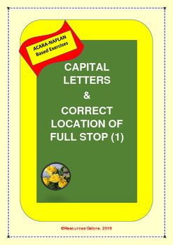 This resource includes three short stories without capital letters or full stops. Students are to complete these stories with capital letters and full stops in appropriate locations. This is designed specifically to address Year 3 NAPLAN English requirement.Just print & go!!!