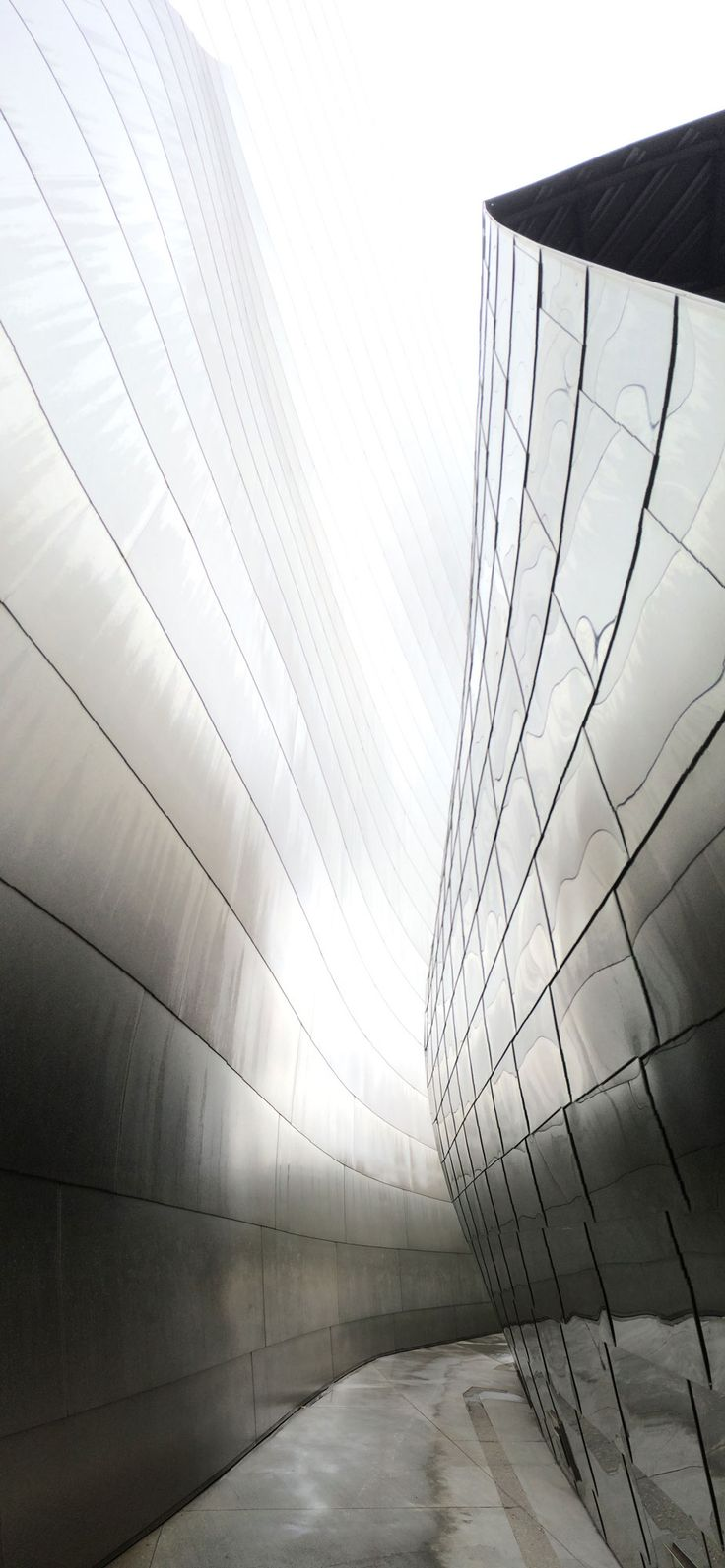 Disney Concert Hall in the rain. Los Angeles