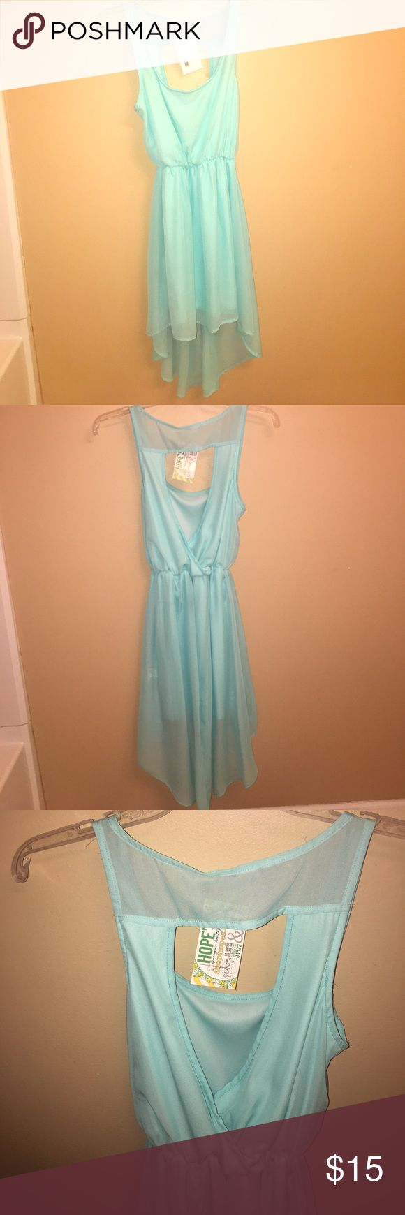 High-low pale blue dress High-low pale blue dress with a cut out back, never worn! Dresses High Low