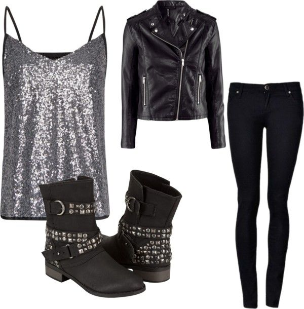 """Biker chick"" by richeym on Polyvore"