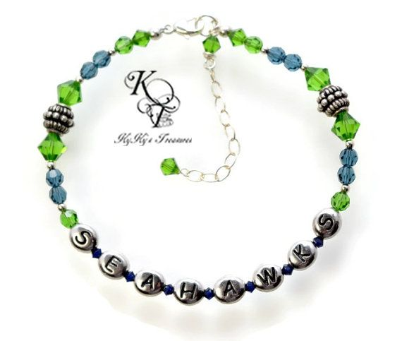Hey, I found this really awesome Etsy listing at https://www.etsy.com/listing/204176382/seahawks-bracelet-seattle-seahawks