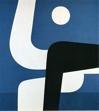 Pleine Lune par Yiannis Moralis (1916-2009, Grèce)