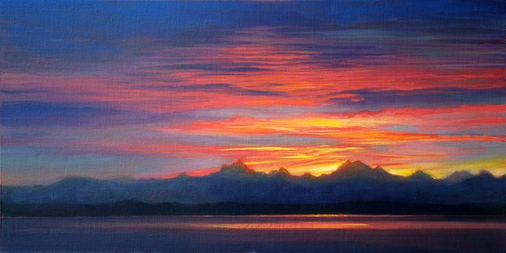 Sunrise Song (15 x 30 in oil)