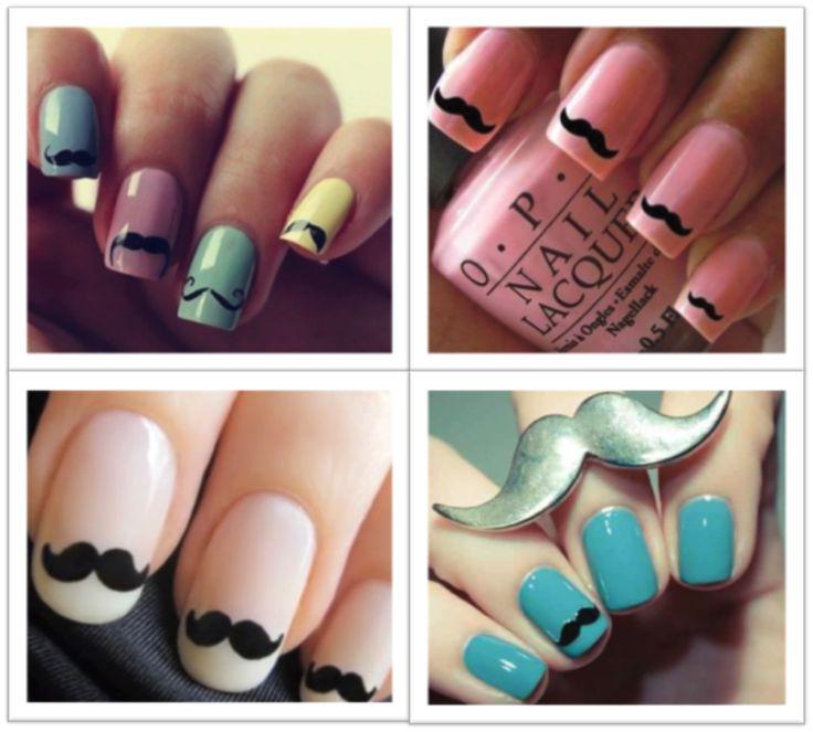 We spotten een #nagellak trend: de snor op je nagels!