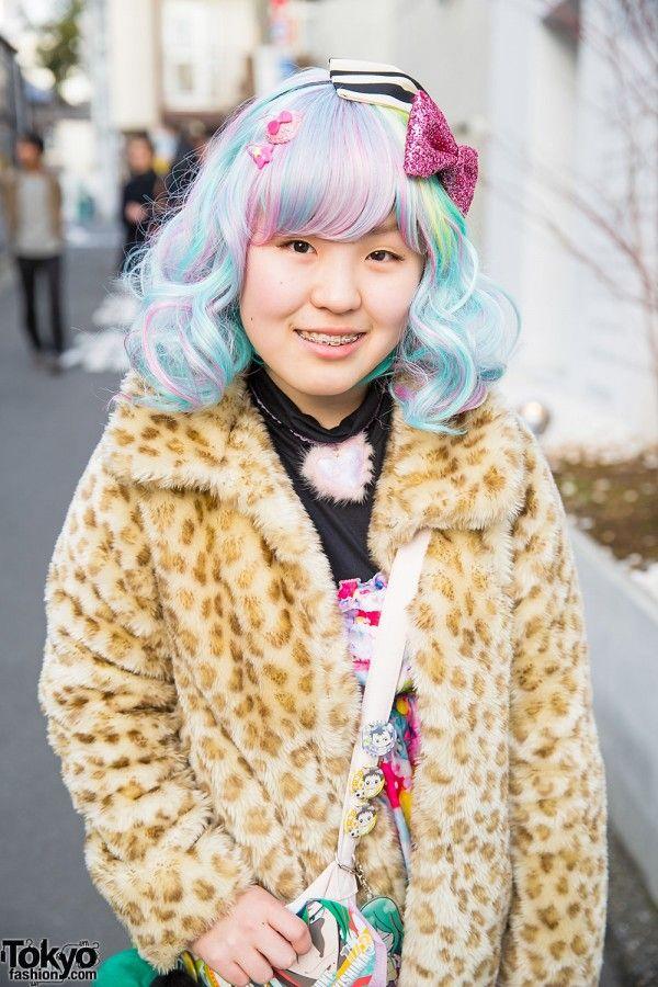 #Harajuku street #japan fashion #kawaii hair&make-up