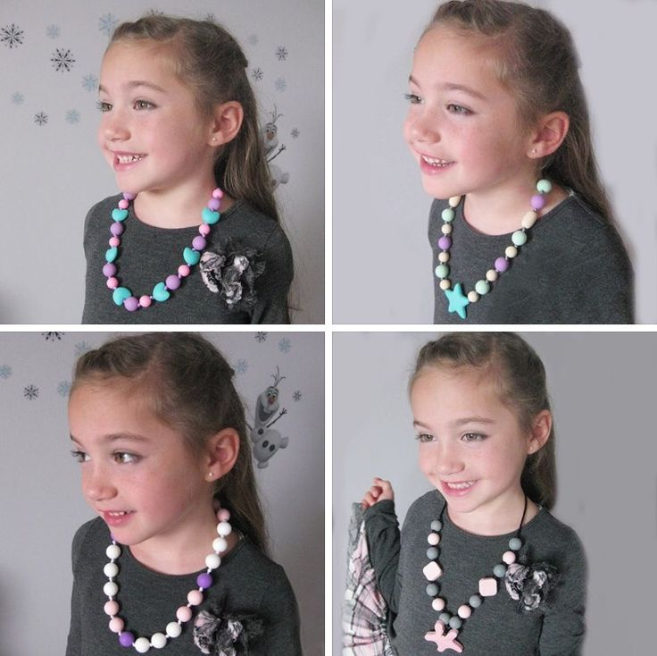 Bebe Perla makes fun, chewable, silicone necklaces for your daughter to wear and look like a princess! We all know that kids love to put everything in their mouth, including their finger nails! Let your little one chew on this necklace safely without creating bad habits! Age 3+. #christmas