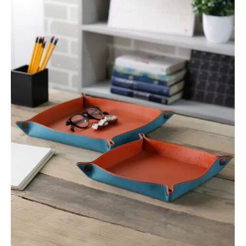 Organise your daily things by putting your stuff in these amazing looking colorful Snap Trays.   Shop these beautifully handcrafted items exclusively at www.kraftsmen.in               Price - 2290 (Set of 2)                                                                                                              #Kraftsmen #HomeEssentials #QualityWork #HomeInterior #BrandedGoods #Organisers