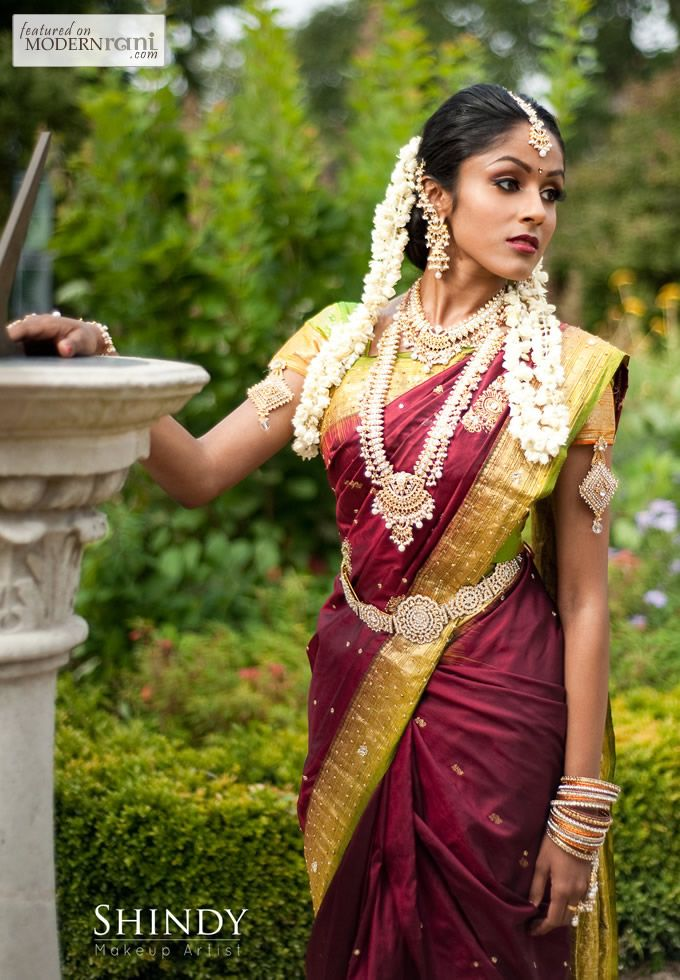 South Indian Bridal Look- more inspiration @ http://www.ModernRani.com
