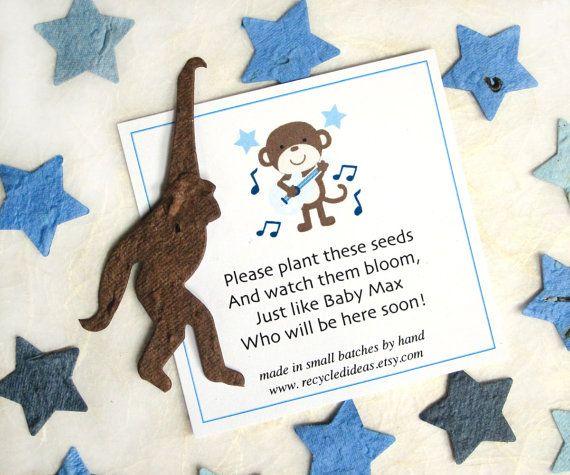 Rock Star Monkey - Plantable Paper - Baby Shower Favors