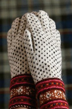 Gloves from Muhu Island - just got the Knitting Traditions mag and can't wait to make these!