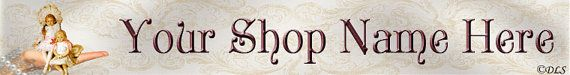 Victorian Dolls Etsy Banner Digital Design by by DLSolutions, $4.00 Instant Digital Download