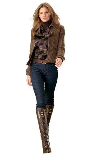Ralph Lauren Fashion LOVE all of this! Perfect fall outfit!