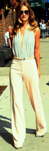 Perfect to elongate the short figure - just be careful not to wear wide legged palazzo pants