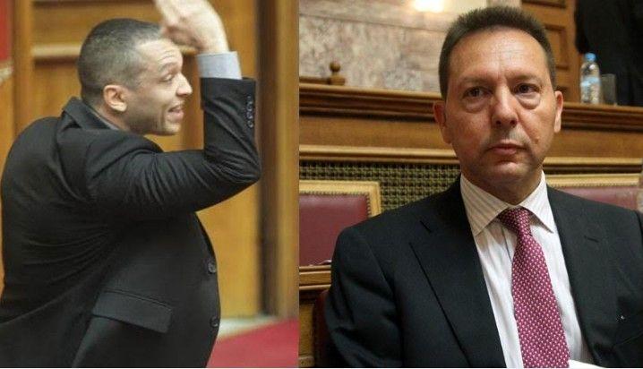 Άγριο επεισόδιο μεταξύ του διοικητή της Τράπεζας της Ελλάδος και του βουλευτή της Χρυσής Αυγής Ηλία Κασιδιάρη...