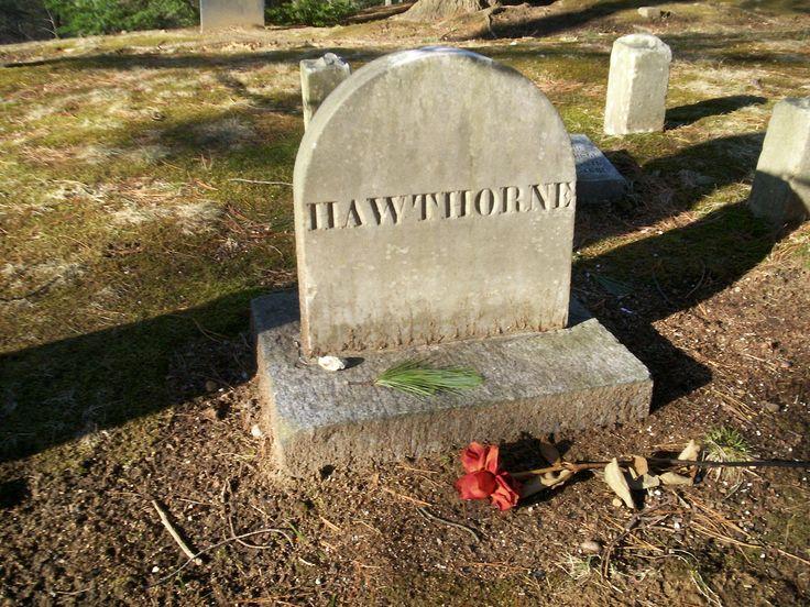 Concord ~ Massachusetts ~ Sleepy Hollow Cemetery ~ Author's Ridge ~ Grave of Nathaniel Hawthorne
