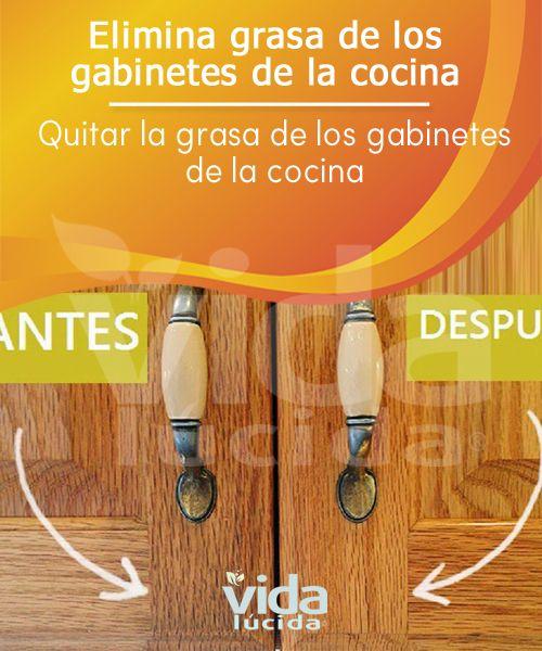 Quitar la grasa natural y rápidamente de los gabinetes de la cocina ...