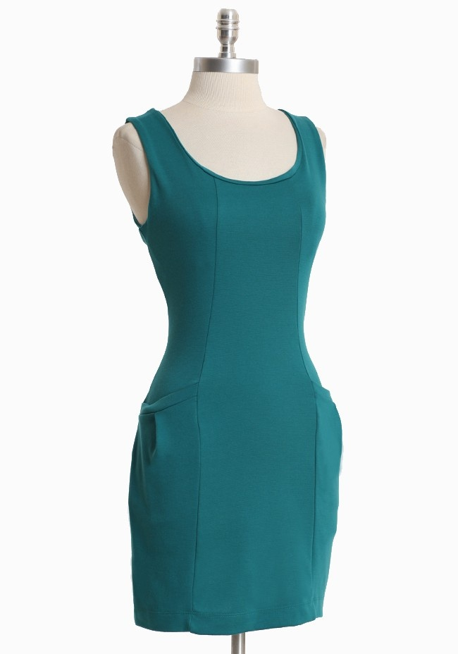 Flattering teal pocket dress: Zippers Closure, Front Pockets, Teal Dresses, Vintage Dresses, Pockets Dresses, Dresses 32 99, Dresses 3299, Soft Knits, Flatter Teal