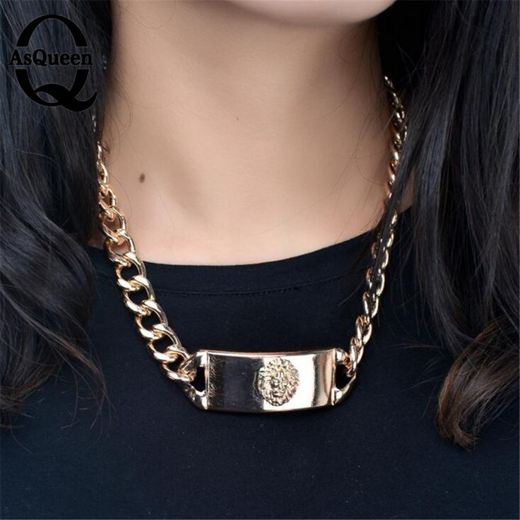 2017 Hip Hop Big Lion Head Pendant & Necklace Animal King Vintage Gold Silver Plated Hiphop Chain For Men/Women Jewelry Gift