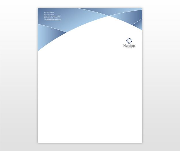 Nursing Education Training Letterhead Template cakepins.com