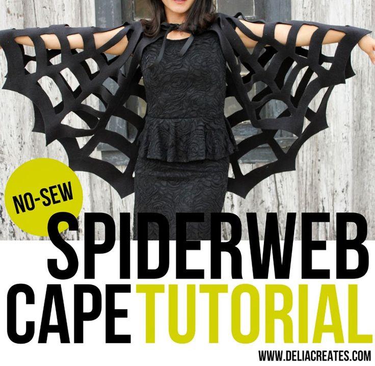 No- Sew spiderweb cape tutorial plus 14 more creative DIY mom costumes