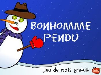 PETIT CADEAU// Jeu du Bonhomme de Neige Pendu // FREE