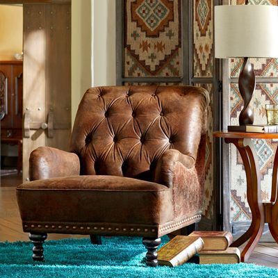 Chas Armchair - Tapestry, Pier One.  So comfy. A mixture of masculine and feminine. Perfect for my master bedroom.