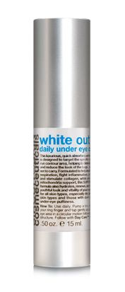 Enjoy 20% off!  Use code fall20 at checkout!  Plus free shipping on all products!  White out daily under eye care .5 ounces, contains Lumiere (Benzimidazole Diamond Amidoethyl Urea Carbamoyl Propyl Polymethylsilsesquioxane) to help disperse light and to correct the darker pigment and also has (D...