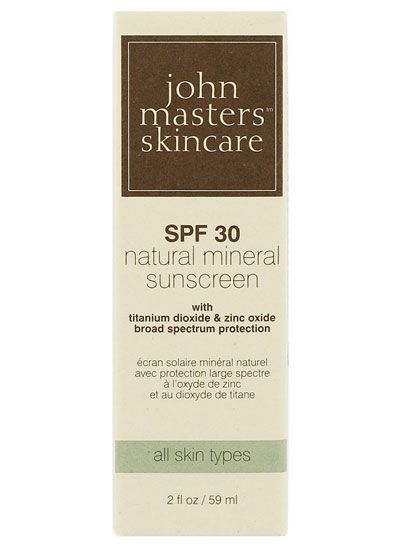 John Masters SPF30 Natural Mineral Sunscreen - a base l'aloe vera <3 (mais benzyl alcohol as conservative)