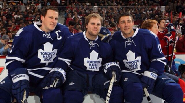 Dion Phaneuf, Phil Kessel, Joffrey Lupul - Toronto Maple Leafs