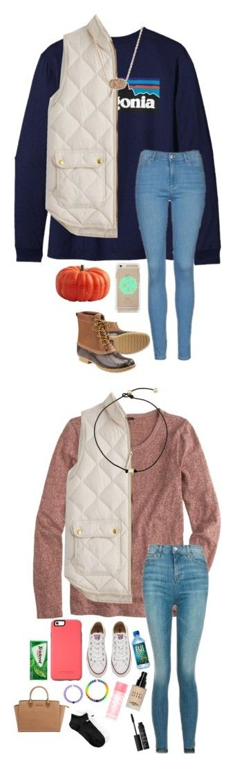 """""""kennamber's contest"""" by sarah-grace-m ❤ liked on Polyvore featuring Patagonia, J.Crew, Topshop, Kendra Scott, L.L.Bean, kennshalloweencontest, Converse, Michael Kors, Bobbi Brown Cosmetics and Victoria's Secret PINK"""