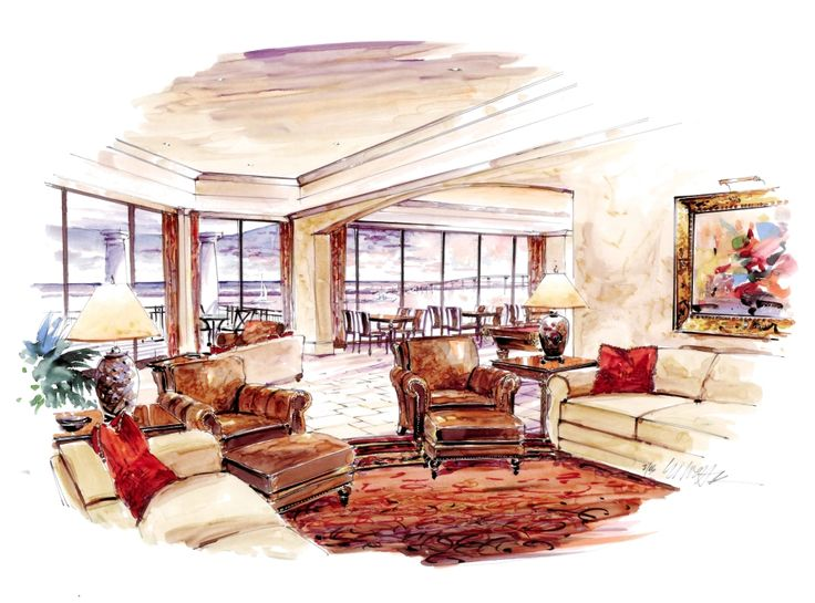 interior design sketches living room google search magic marker