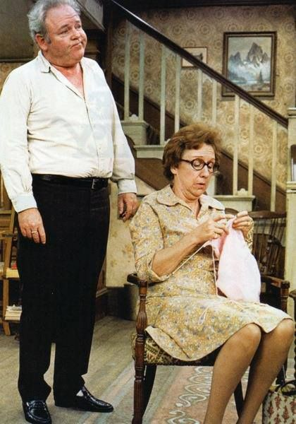 Jean Stapleton as Edith Bunker and her wonderful husband, Archie (Carrol O'Connor) from All in the Family