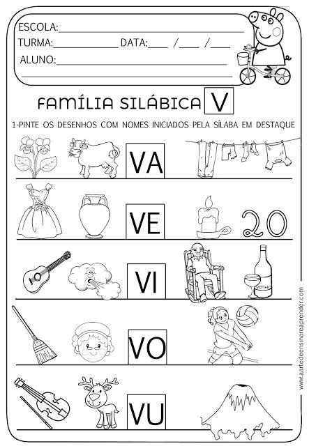 Atividade pronta - Família Silábica V