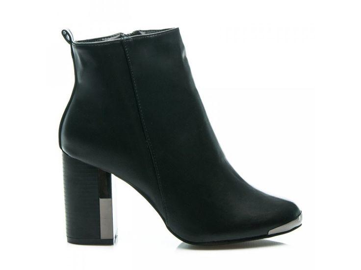 Čierne členkové topánky BLACK&GOLD