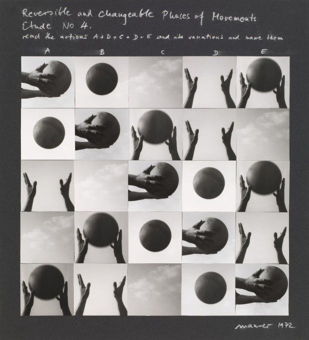 Dóra Maurer. Reversible and Changeable Phases of Movement, Study No. 4. 1972 Leveled 2