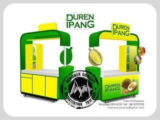 Desain Logo | Logo Kuliner |  Desain Gerobak | Jasa Desain dan Produksi Gerobak: Desain Gerobak Duren Ipang