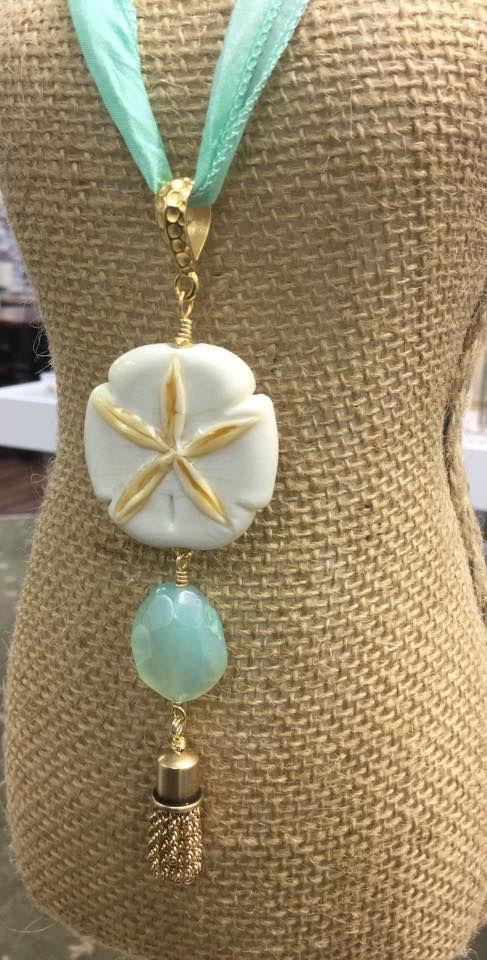 beautiful handmade lampwork sand dollar necklace lhbeadscom