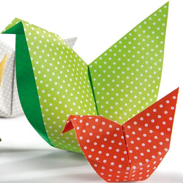 Faire des poules en origami pour Pâques avec Wesco Family