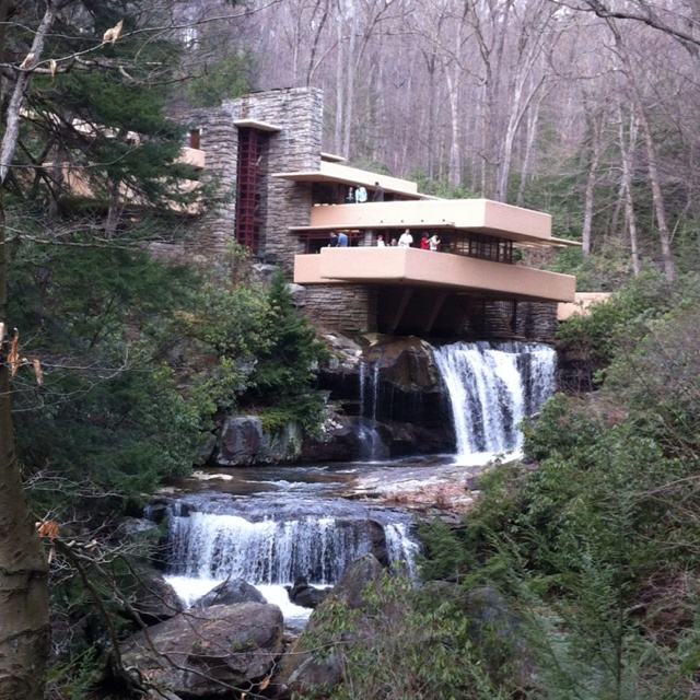 Fallingwater home by Frank Lloyd Wright