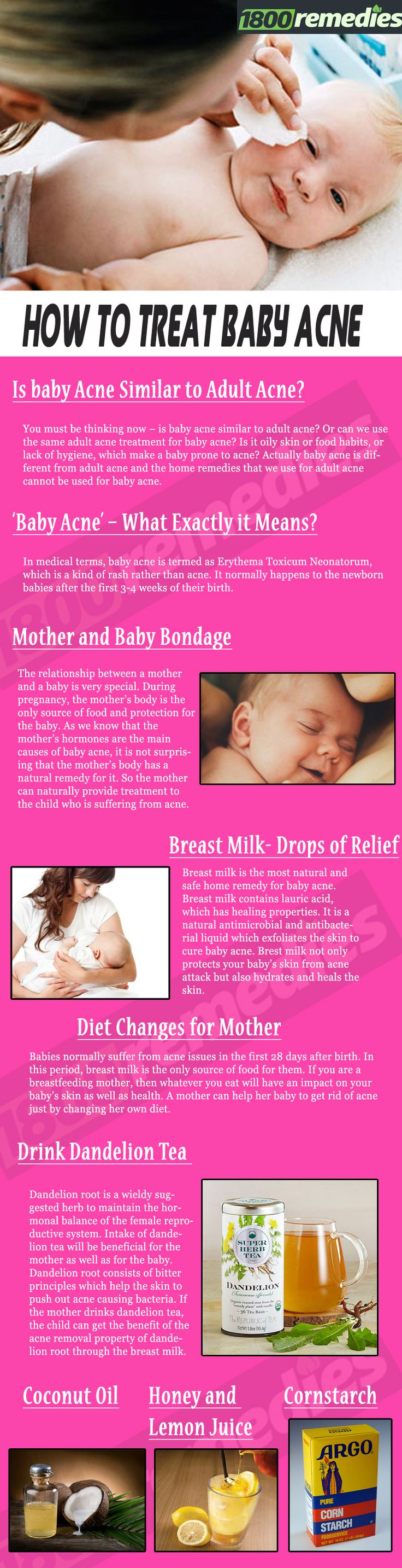 Be calm and choose the right remedy for your baby as the skin of the baby is way more sensitive and softer than the adult skin.