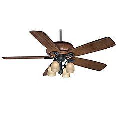 Casblanca Heathridge 60 Inch  Aged Steel Outdoor/Indoor Ceiling Fan with 4 speed wall control