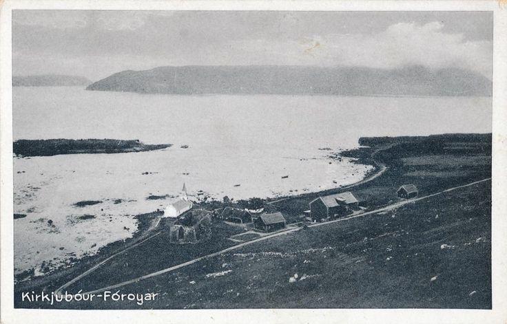 Færøerne-Fòroyer-Kirkjubòur-harbour-Saint Olav's Church ca.12 centuary  - EB365