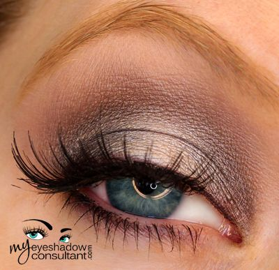 MAC eyeshadows used:      Beauty Marked (inner and outer third of lid)     Phloof! (middle of lid)     Prepped for Glamour LE (crease) – Satin Taupe is a dupe     Bisque (blend)