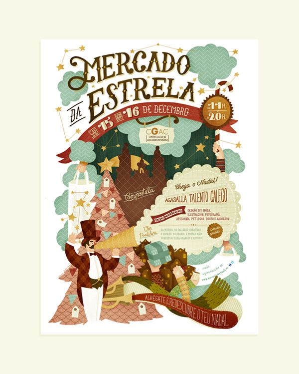 Mercado da Estrela by David Sierra, via Behance