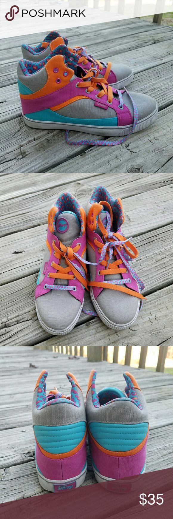 Pastry Tennis Shoes Pastry High top Tennis shoes great to just wear or dance in. Size 8 1/2. Worn maybe 2x. Pastry Shoes Athletic Shoes