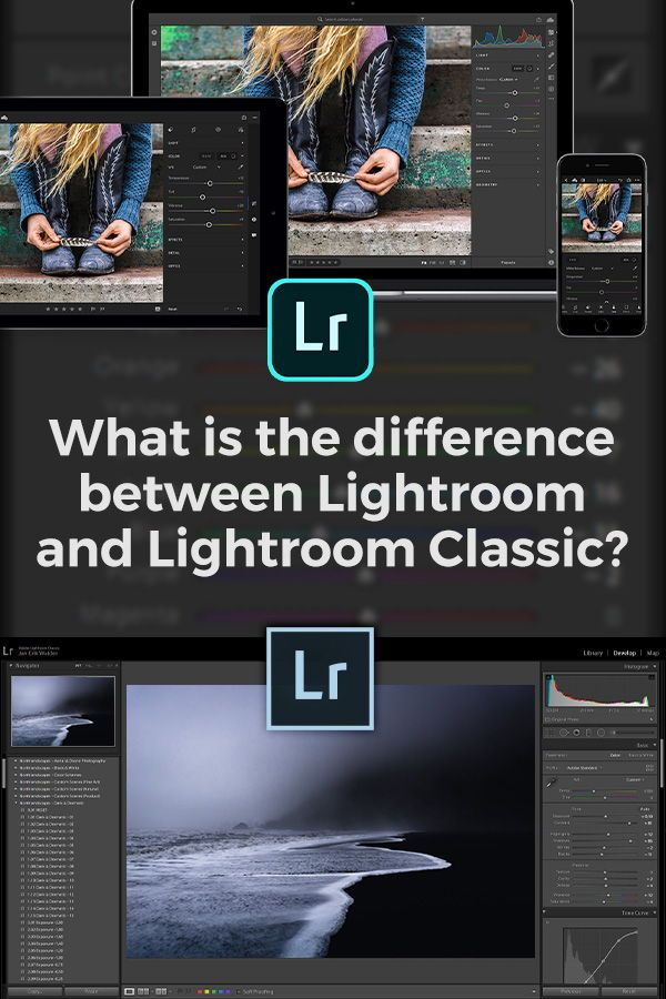 Difference between lightroom and lightroom classic