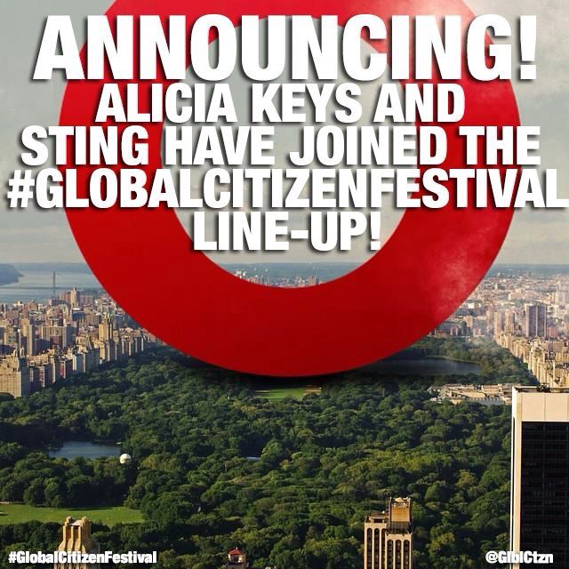 Tiesto , The Roots , Jay-Z , Alicia Keys , Sting , Carrie Underwood ...Global Citizen Festival New York 2014