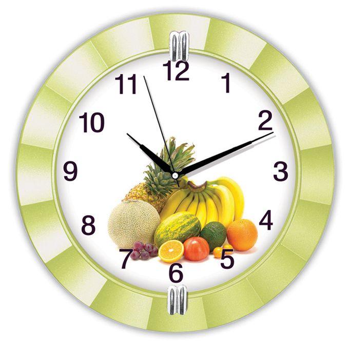 Dekoratif Meyveli Mutfak Duvar Saati  Ürün Bilgisi ;  Ürün maddesi : Alüminyum çerceve, Gerçek cam Ebat : 32 cm  Mekanizması (motoru) : Akar saniye, saat sessiz çalışır Dekoratif Meyveli Mutfak Duvar Saati Saat motoru 5 yıl garantilidir Yerli üretimdir Duvar Saati sağlam ve uzun ömürlüdür Kalem pil ile çalışmaktadır Gördüğünüz ürün orjinal paketinde gönderilmektedir. Sevdiklerinize hediye olarak gönderebilirsiniz