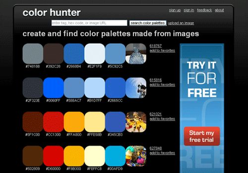 Color Scheme Generator Web Sites
